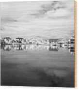 Infrared Beach Houses On The Water Wood Print