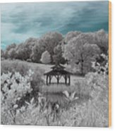 Infrared Gazebo Wood Print