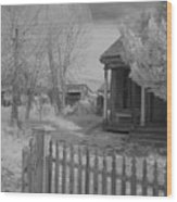 Infrared House Wood Print
