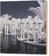 Infrared Pool Wood Print