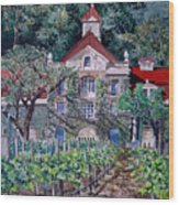 Inglenook Winery Napa Valley  Wood Print