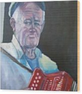 Inis Mor Accordian Player Wood Print