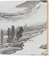 Ink And Wash Pine Wood Print