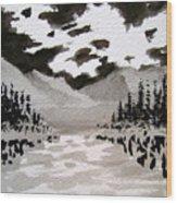 Inky Sky Wood Print