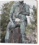 Inland Northwest Veterans Memorial Statue Wood Print
