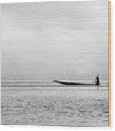 Inle Boat Wood Print