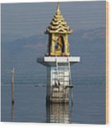Inle Lake Temple Wood Print