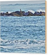 Inlet Waves Wood Print