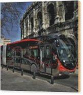 Inner City Tram Wood Print