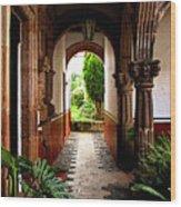 Inner Garden Wood Print