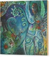 Inner Goddess By Reina Cottier Wood Print