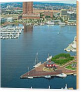 Inner Harbor Baltimore Panorama Wood Print