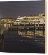 Inner Harbor Tour Boat Wood Print