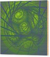 Inner Light Spiral Sanctum Wood Print