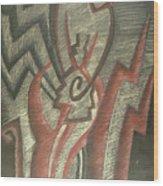 Inner Turmoil  Detail Wood Print