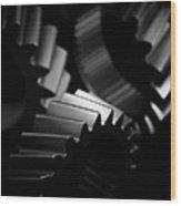 Inner Workings Black And White Wood Print
