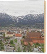 Innsbruck View Wood Print