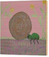 Insect Happy Meal Wood Print