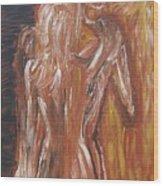 Inseparable Lovers Wood Print