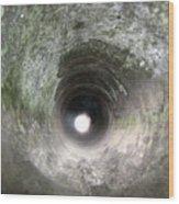 Inside A 20mm Submarine Deck Gun Barrel Wood Print