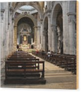 Inside Beautiful Church In Rome Wood Print