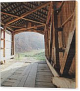 Inside Big Rocky Fork Bridge Wood Print