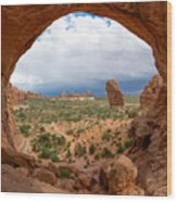 Inside Double Arch Wood Print