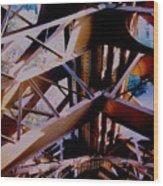Inside Eiffel Wood Print