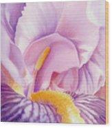 Inside Iris Wood Print