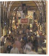 Inside Istanbuls Grand Bazaar Wood Print