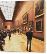 Inside Louvre Museum  Wood Print by Charuhas Images