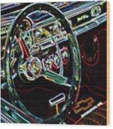 Inside Of A Classic Car Wood Print