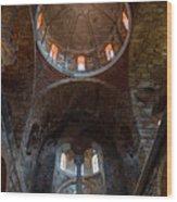 Inside Of Mystras Church Wood Print
