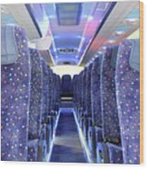 Inside Of New Bus  Wood Print
