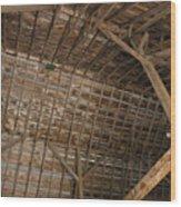 Inside Of The Barn Wood Print