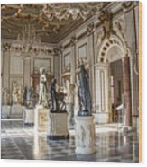 Inside One Of The Rooms Of The Capitoline Museums In Rome, Italy  Wood Print