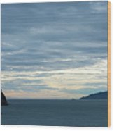 Inside Passage Sunset Wood Print