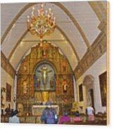 Inside Sanctuary At Carmel Mission-california  Wood Print