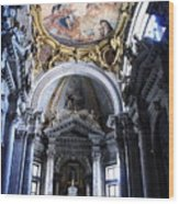 Inside The Church Santa Maria Della Salute In Venice Wood Print