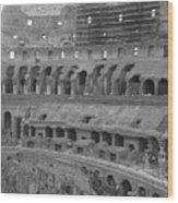 Inside The Colosseum Wood Print