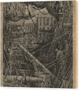 Inside The Dock Wood Print