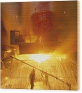 Inside The East-slovakian Steel Mill Wood Print by James L. Stanfield