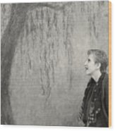 Inside The Frame Wood Print by Philippe Taka