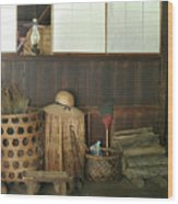 Inside The Traditional Japanese House Wood Print