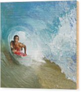 Inside Wave Tube Wood Print