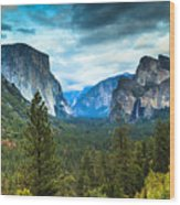 Inspiration Point Yosemite Wood Print