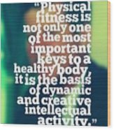 Inspirational Quotes - Motivational - John F. Kennedy 3 Wood Print