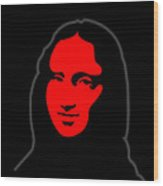 Inspired by Mona Lisa - Hommage a Leonardo da Vincy Wood Print