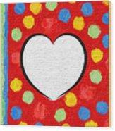 Insta Heart Wood Print