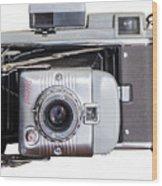 Instant Vintage Polaroid Camera Wood Print